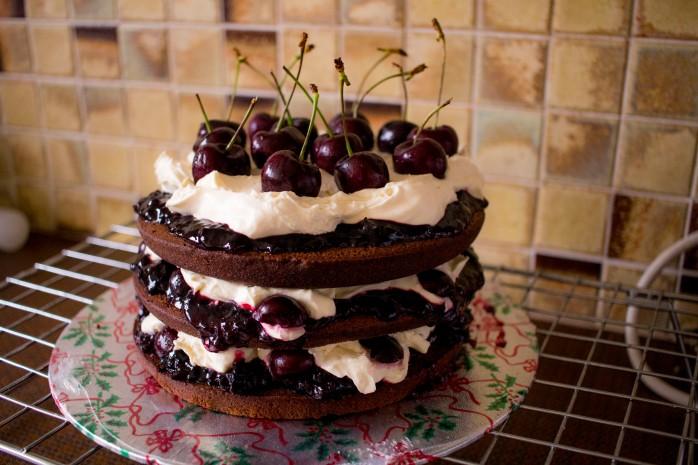 IMG_6586chocolate cherry cream cake